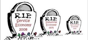 Đã qua rồi nên kinh tế Nông - Công nghiệp và dịch vụ. Thời đại ngày nay là thời đại của nền kinh tế tri thức