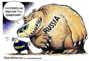 Ukraine đã bắn những đầu đạn nhỏ về phía Nga và phòng thủ bằng áo giáp cứng nhưng không đủ sức chịu đựng, đối kháng với sức công phá của những quả đạn to mà Nga phản lại